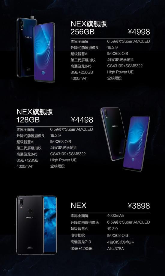 《3898元起 vivo NEX发布:升降摄像头 屏占比达91%》